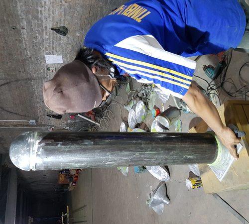 proyek bollard baja AEON Mall sentul city