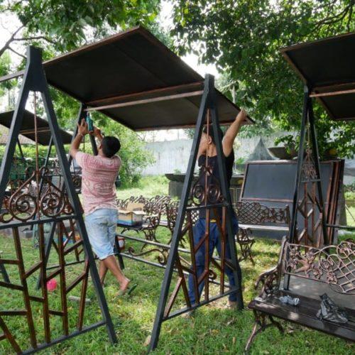 proyek gazebo taman puro mangkunegaran solo