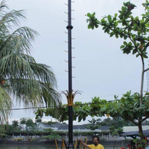 proyek tiang lampu sorot anti petir belitung
