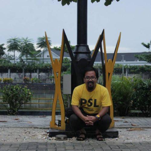 proyek tiang lampu sorot taman kabupaten belitung