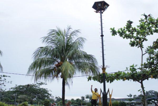 proyek tiang lampu sorot pemkab belitung