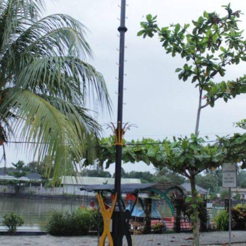 proyek tiang lampu sorot highmast belitung