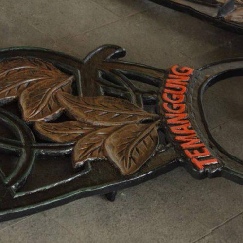 proyek kursi taman cor motif ikon kabupaten temanggung