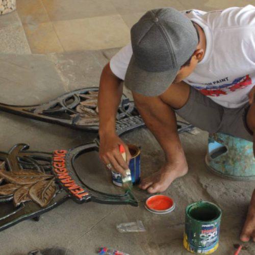 proyek kursi taman cor antik kabupaten temanggung