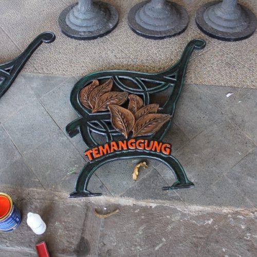 proyek kursi taman cor unik temanggung