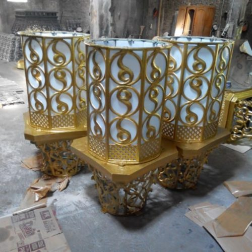 proyek lampu masjid unik islami klasik