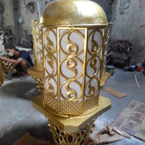 proyek lampu masjid ornamental klasik unik