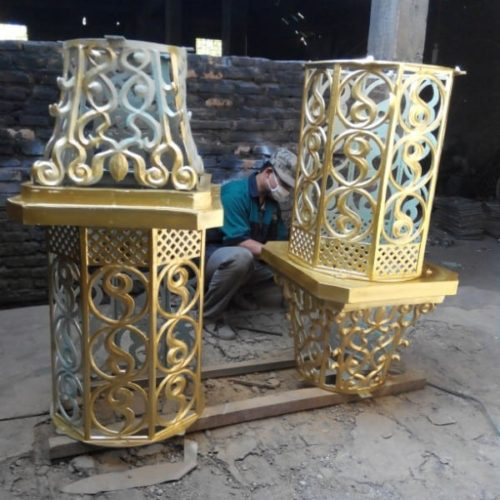 proyek lampu masjid ornamental unik