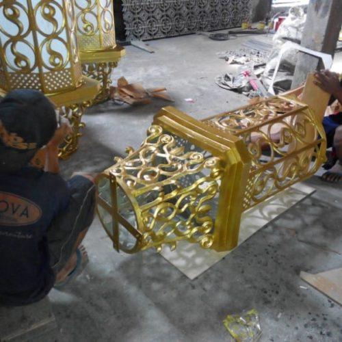 proyek lampu masjid berornamental