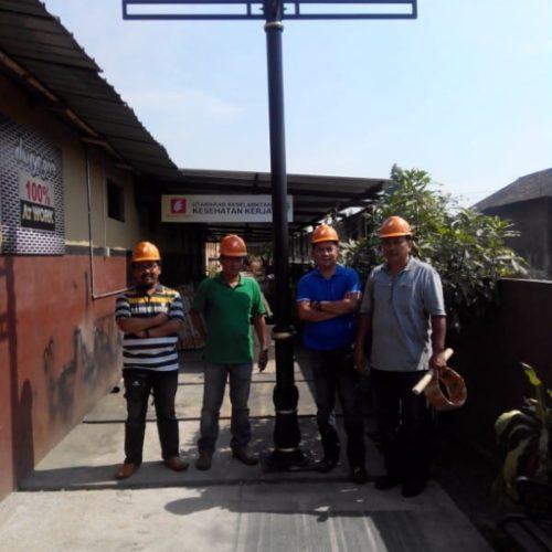 proyek kabupaten belitung penunjuk arah jalan cor unik