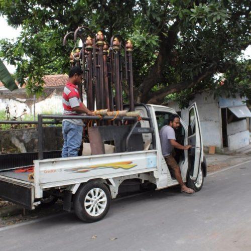proyek tiang lampu antik unik kawasan kalipepe