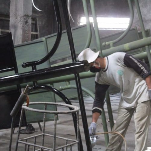 proyek tiang lampu antik kalipepe kota surakarta