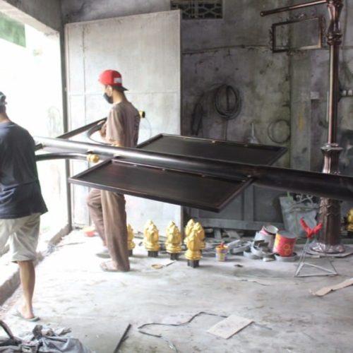 proyek tiang lampu antik kalipepe solo