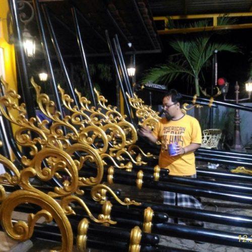 proyek tiang lampu penerangan jalan mewah cor besi klasik kabupaten cianjur