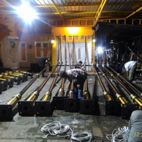 proyek tiang lampu PJU heritage kabupaten cianjur