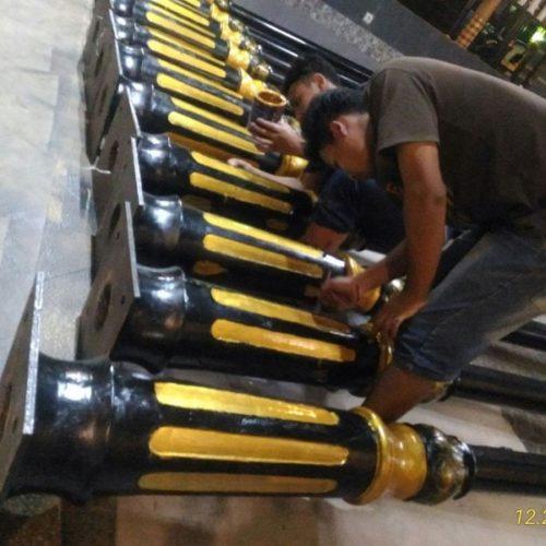 proyek lampu jalan heritage klasik cianjur