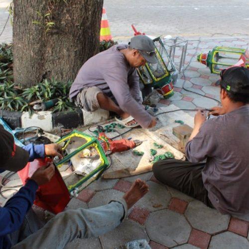 proyek tiang lampu cor antik kantor gubernur jogja