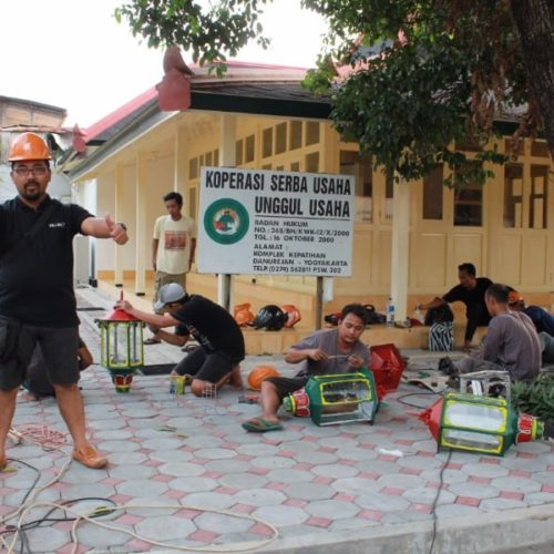 proyek lampu taman cor besi kantor gubernur yogyakarta