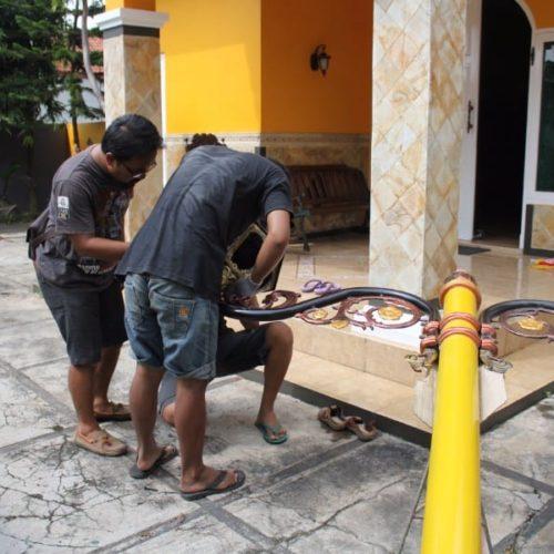 proyek lampu jalan klasik cor kabupaten lombok tengah
