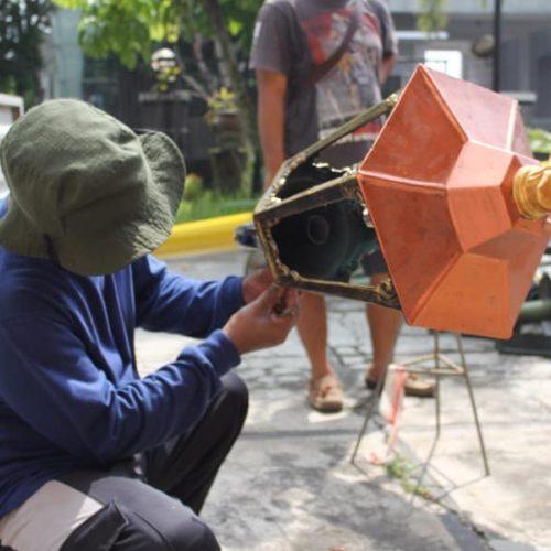 proyek tiang lampu taman klasik lombok tengah