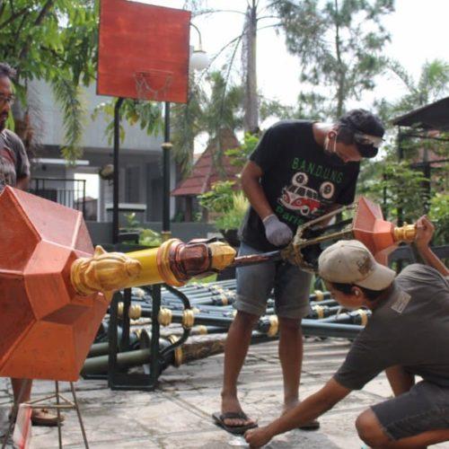 proyek tiang lampu jalan lombok tengah