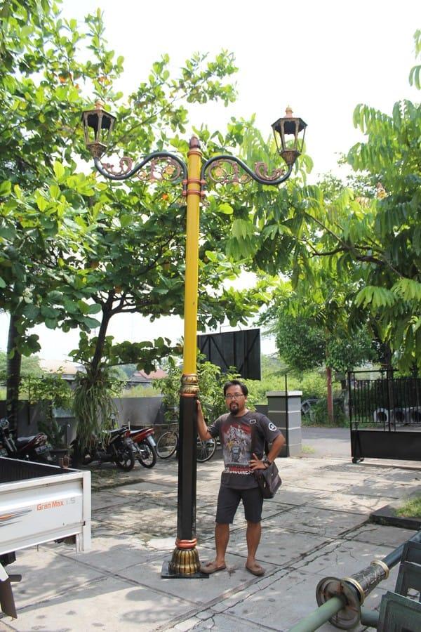 proyek tiang lampu klasik pemkab lombok tengah