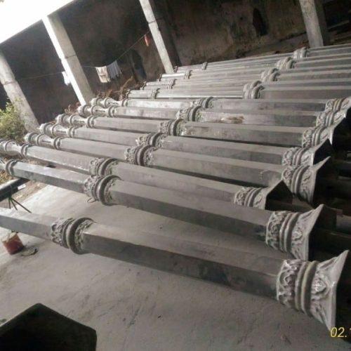 proyek tiang lampu taman antik stasiun tugu yogyakarta