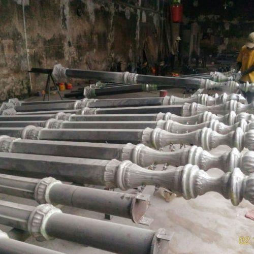 proyek tiang lampu cor besi stasiun tugu yogyakarta