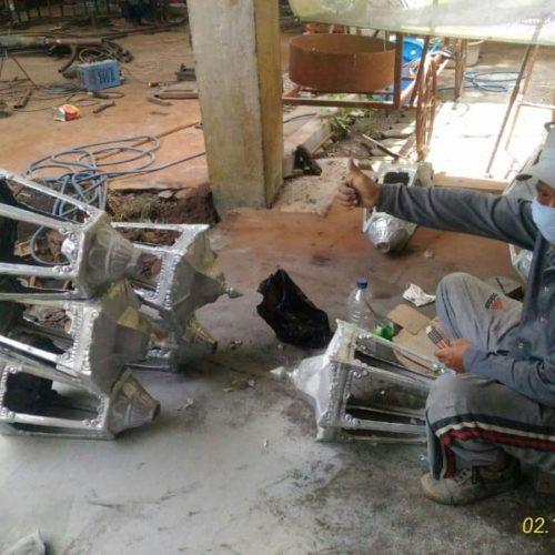 proyek tiang lampu antik cor besi stasiun tugu jogja