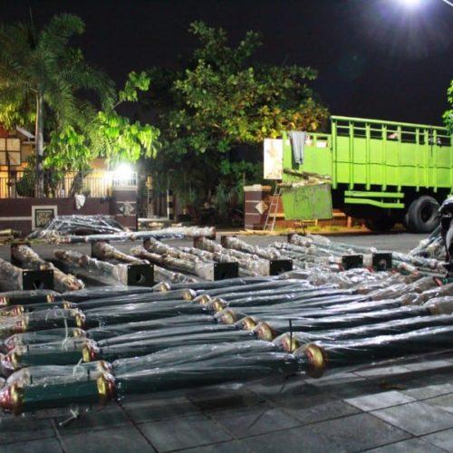 proyek tiang lampu islamic center nunukan kaltara