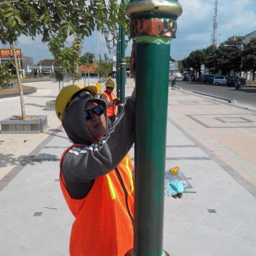 proyek tiang lampu alun-alun kabupaten rembang