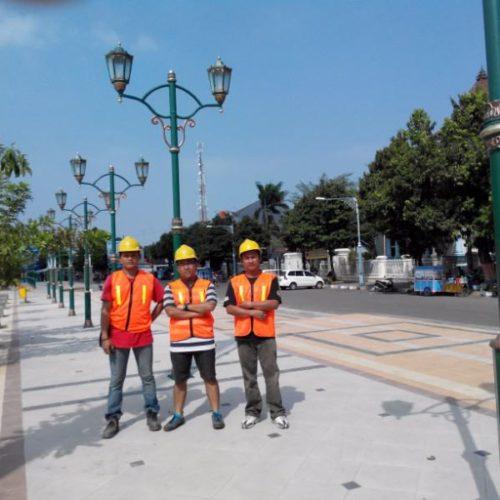 proyek lampu taman klasik unik kabupaten rembang