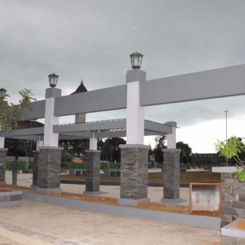proyek tiang lampu taman alun-alun kabupaten rembang