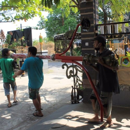 proyek tiang lampu PJU unik kabupaten wonogiri