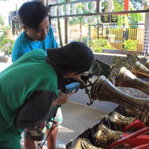 proyek tiang PJU antik wonogiri