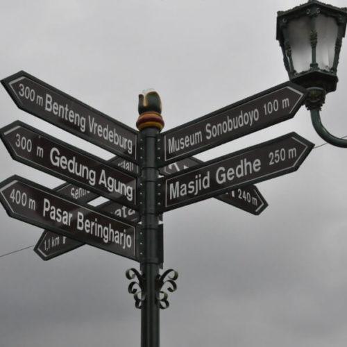 tiang penunjuk arah jalan antik murah