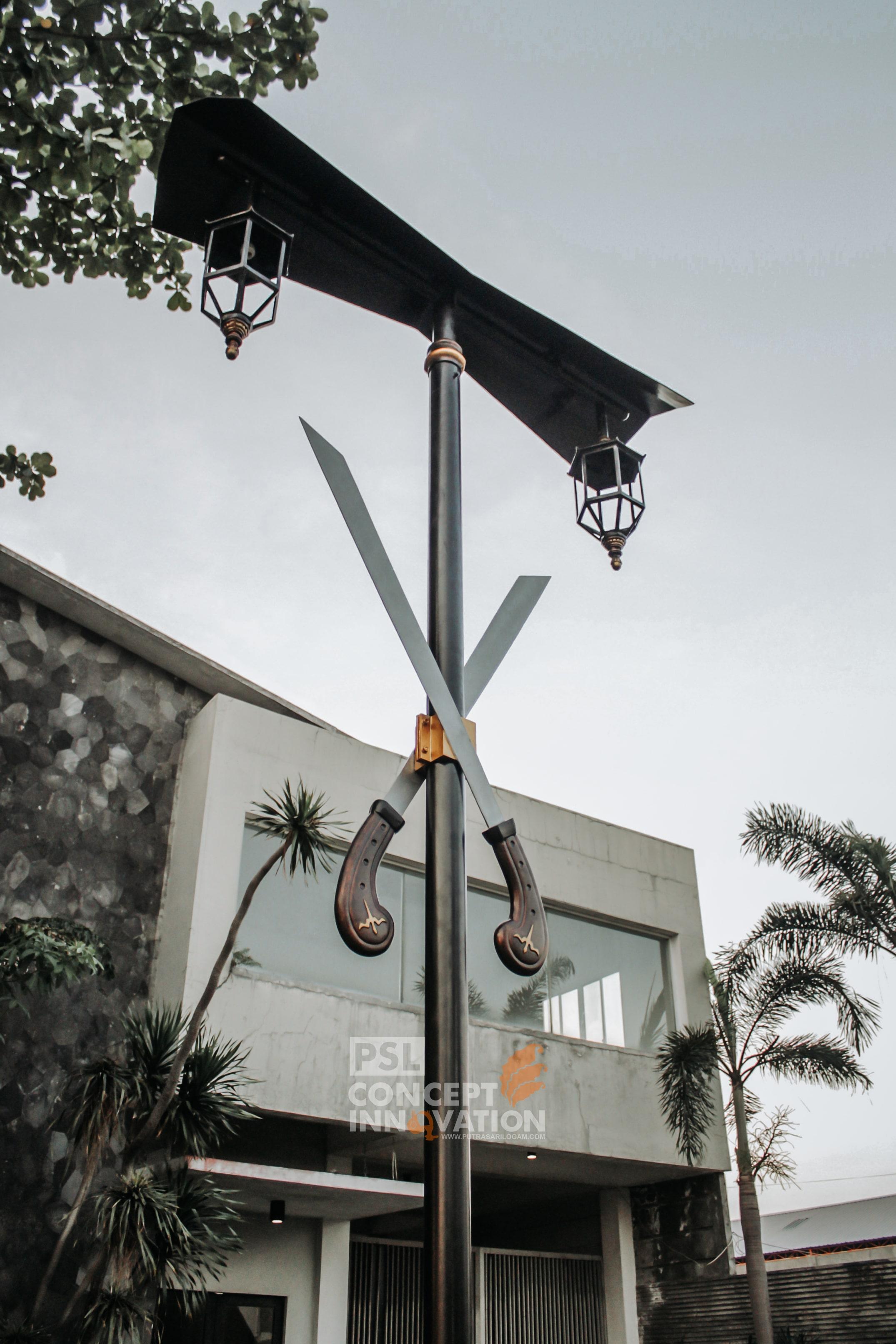 Pedestrian Maluku Utara Makin Cantik Dengan Lampu PJU Custom Salawaku